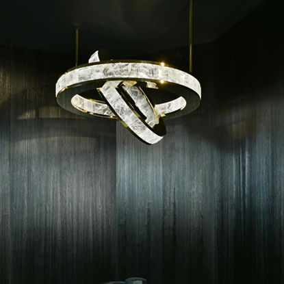 contemporary chandelier / crystal / commercial
