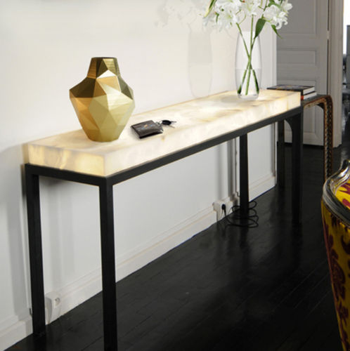 contemporary sideboard table / stone / rectangular
