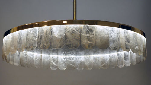traditional chandelier / crystal / metal / commercial