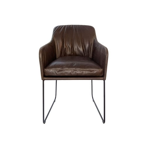 contemporary visitor chair / upholstered / with armrests / central base