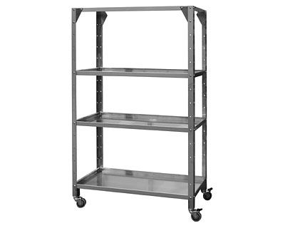 commercial kitchen trolley / stainless steel