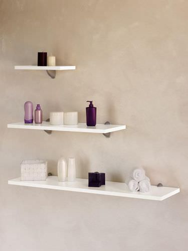 Wall-mounted shelf / contemporary / wooden / commercial WOOD STRIP  Medical & Beauty