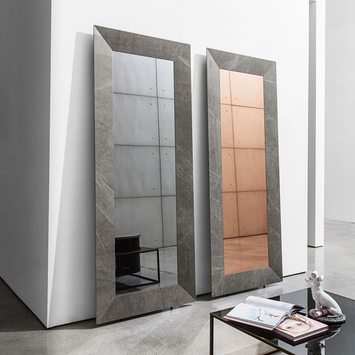 wall-mounted mirror / free-standing / hanging / contemporary