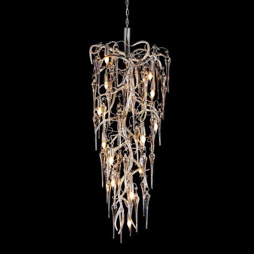 original design chandelier / steel / glass / incandescent