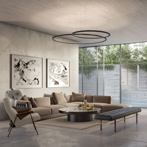 pendant lamp / contemporary / steel / dimmable