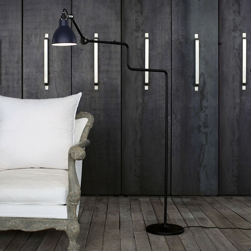 floor-standing lamp / contemporary / steel / adjustable