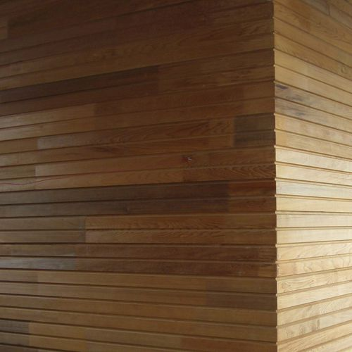 wooden cladding / grooved / strip