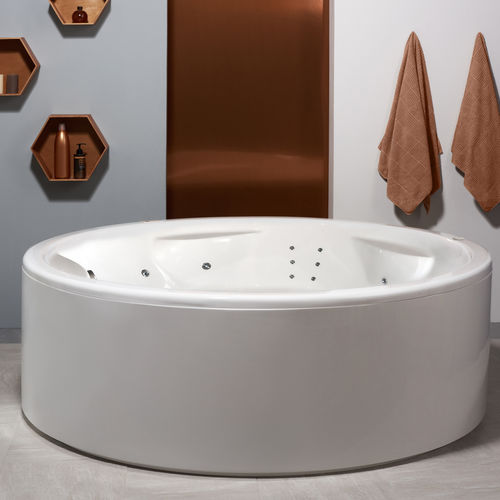 Freestanding bathtub / round / acrylic / double ALLEGRA-WHT-SPA (US VERSION 110V/60HZ) AQUATICA PLUMBING GROUP