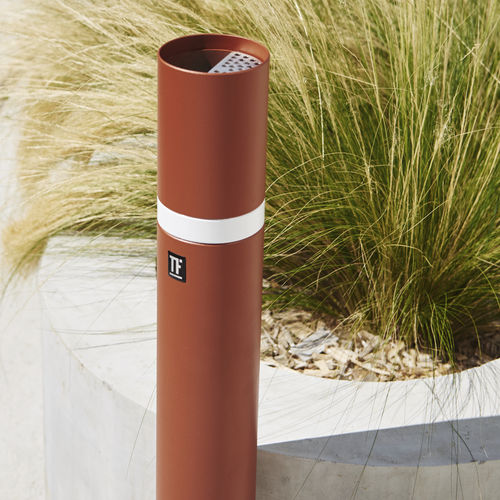 pedestal ashtray / metal / for outdoor use / for public spaces