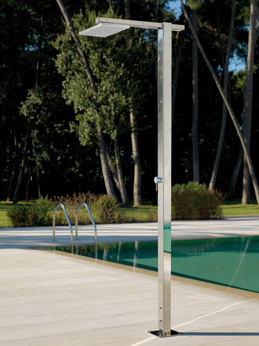 Pool garden shower / stainless steel SQUARE Q8.6 MIX Fontealta