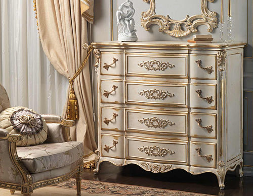 Louis XVI style chest of drawers / white