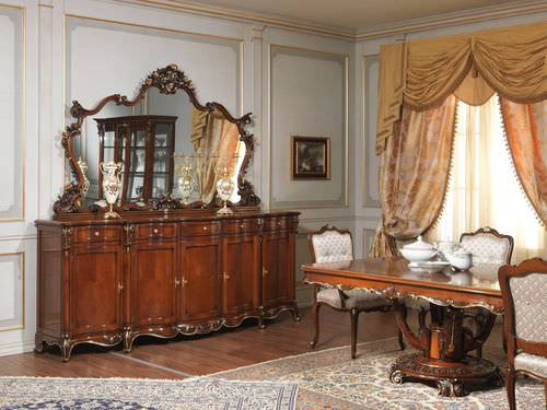 Louis XV style chest of drawers / wooden / brown