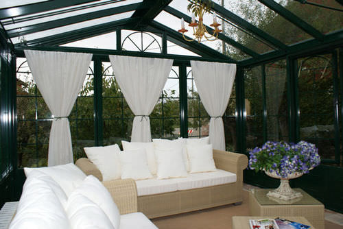 self-supporting conservatory / iron / all glass