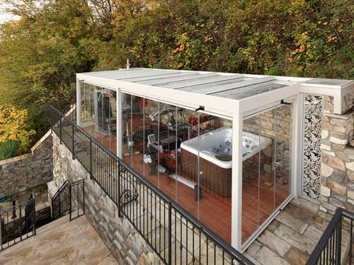galvanized iron conservatory / all glass