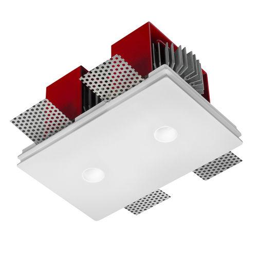 recessed spotlight / indoor / LED / rectangular