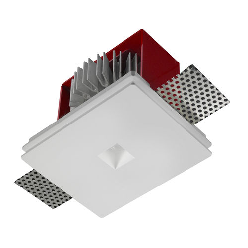 recessed spotlight / indoor / LED / square