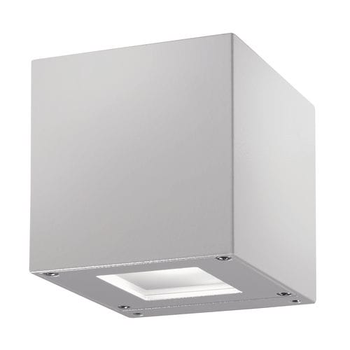 contemporary wall light / outdoor / aluminum / glass