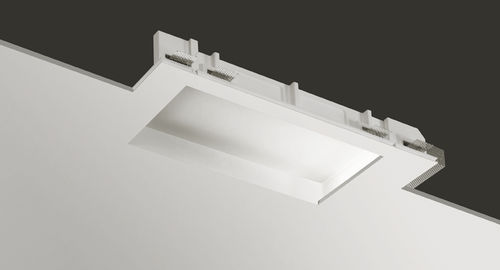 recessed ceiling light fixture / LED / compact fluorescent / rectangular