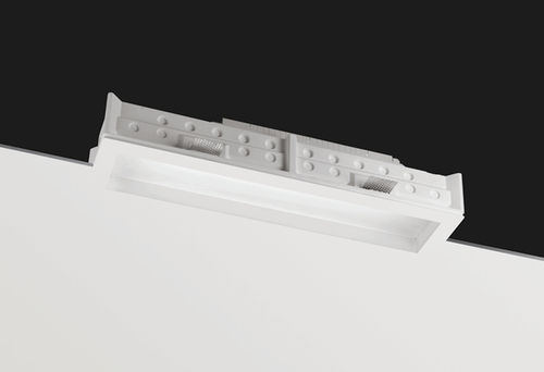 recessed ceiling light fixture / compact fluorescent / linear / glass