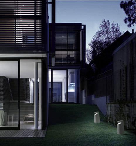 garden bollard light / contemporary / glass / DurCoral®