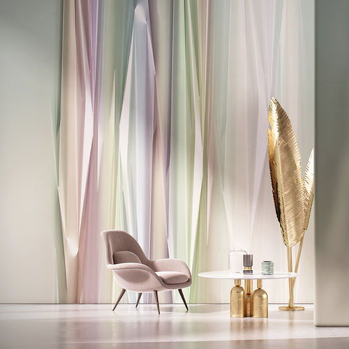 vinyl wallcovering / home / printed / fabric look