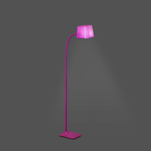 floor-standing lamp / contemporary / steel / polycarbonate