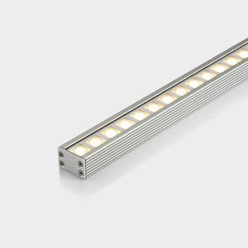surface-mounted light fixture / LED / linear / aluminum