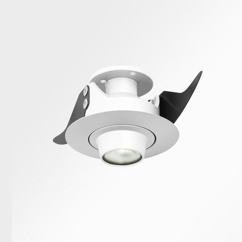 recessed downlight / LED / round / glass