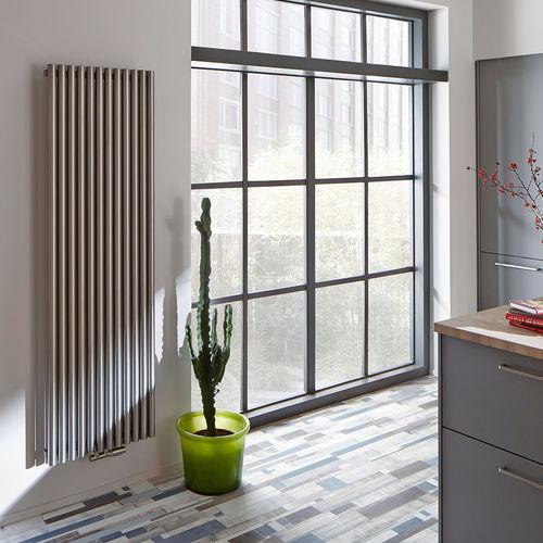 hot water radiator / stainless steel / contemporary / custom