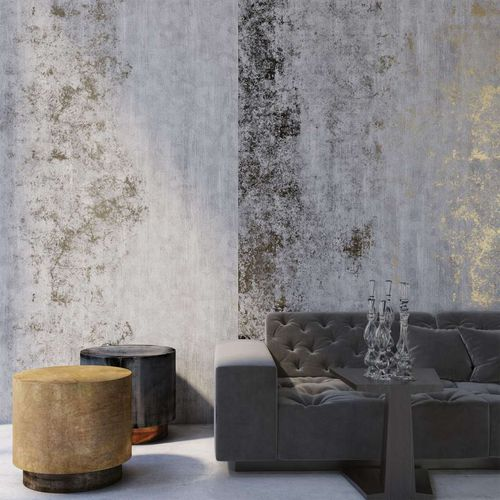 contemporary wallpaper / patterned / gold-colored / silver