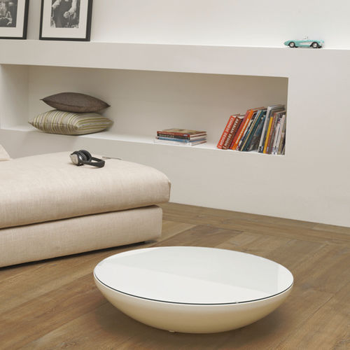 contemporary coffee table / polyethylene / round / commercial