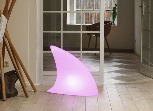 Floor lamp / original design / plastic / with rechargeable battery SHARK MOREE