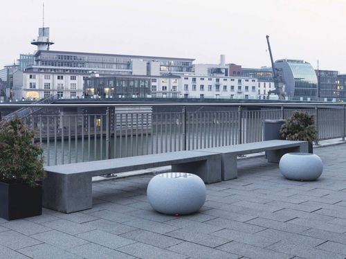 Contemporary stool / plastic / for public spaces / outdoor BUBBLE GRANITE X MOREE