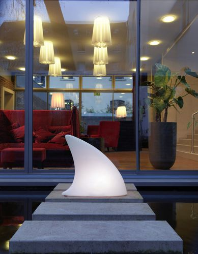 Floor lamp / original design / plastic / garden SHARK MOREE