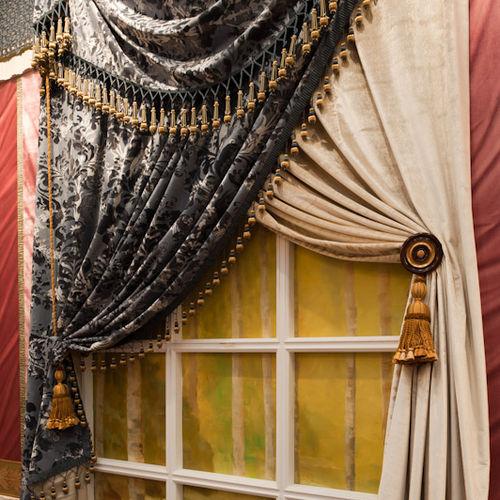 curtain fabric / patterned / velvet / commercial