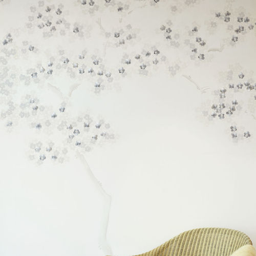 contemporary wallpaper / silk / nature pattern / scenic