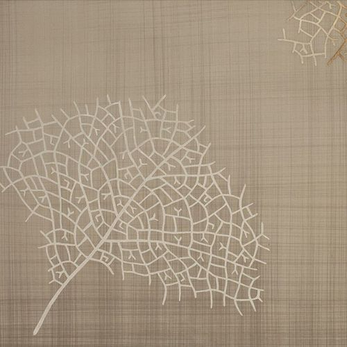 contemporary wallpaper / silk / patterned / handmade