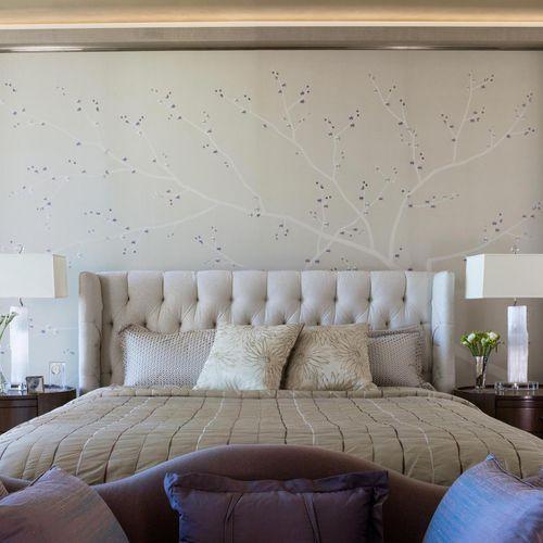 contemporary wallpaper / silk / nature pattern / handmade
