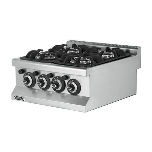 gas cooktop / cast iron / stainless steel