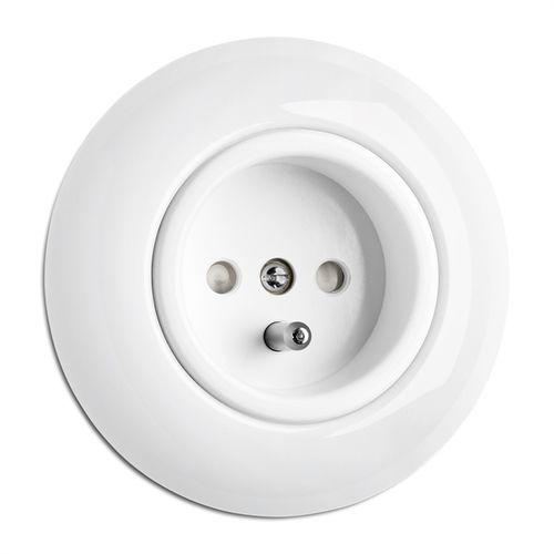 Power socket / recessed / porcelain / traditional 175835 THPG Thomas Hoof Produktgesellschaft mbH & Co. KG