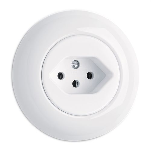power socket / recessed / porcelain / traditional