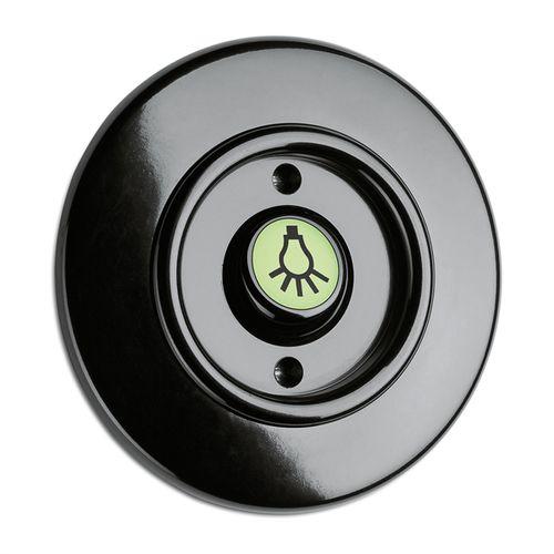 Rocker switch / Bakelite® / traditional / black 100974 THPG Thomas Hoof Produktgesellschaft mbH & Co. KG