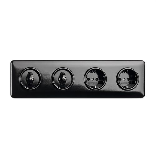 Power socket / quadruple / recessed / Bakelite® 173091 THPG Thomas Hoof Produktgesellschaft mbH & Co. KG