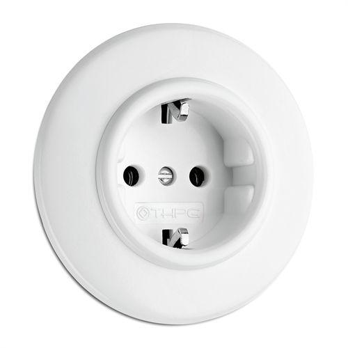 Power socket / recessed / Duroplast / traditional 176400 THPG Thomas Hoof Produktgesellschaft mbH & Co. KG
