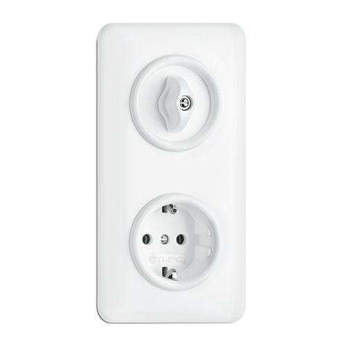 Power socket / recessed / Duroplast / traditional 176422 THPG Thomas Hoof Produktgesellschaft mbH & Co. KG