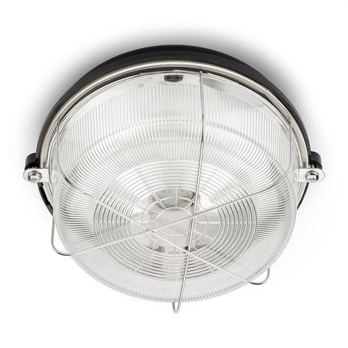 traditional ceiling light / round / glass / Bakelite®