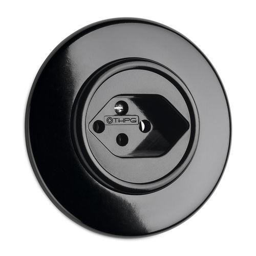 Power socket / recessed / Bakelite® / traditional 100940 THPG Thomas Hoof Produktgesellschaft mbH & Co. KG