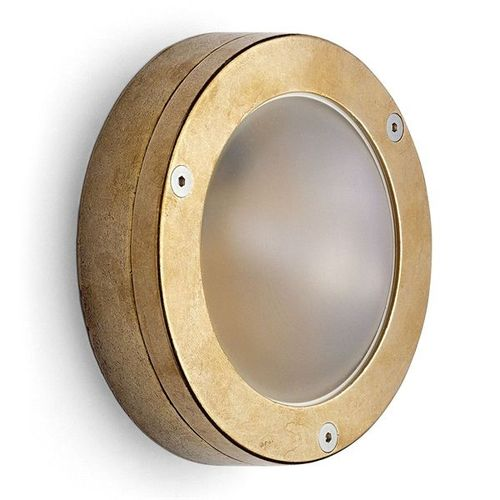 traditional wall light / outdoor / brass / halogen