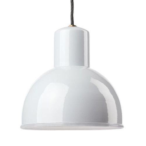 pendant lamp / traditional / sheet steel / white