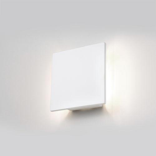 contemporary wall light / ceramic / square